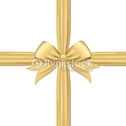 gold gift bow and ribbon vector art thinkstock