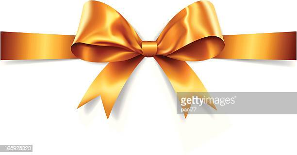 Gold Gift Bow (Vector)