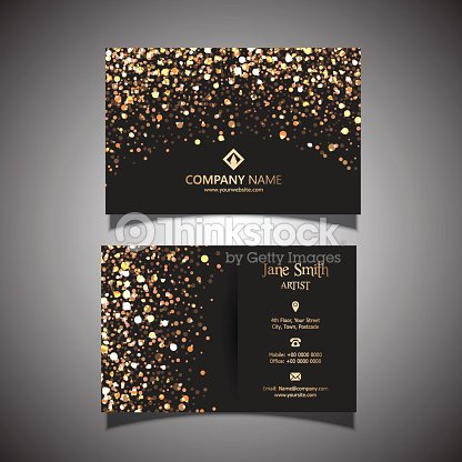Gold glitter business card vector art thinkstock gold glitter business card vector art reheart Choice Image