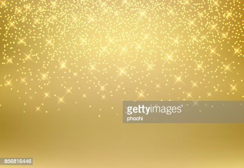Gold glitter dust texture shining on golden background. Gold particles. Luxury design. Vector illustration : Vector Art