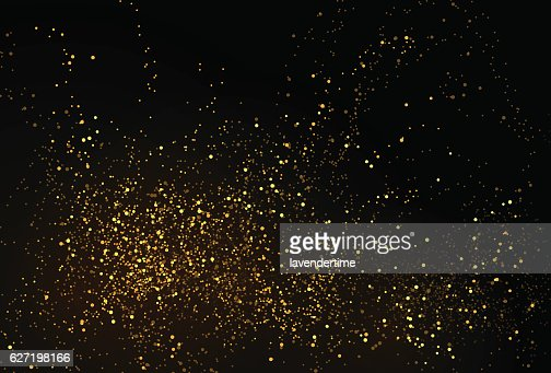 Gold glitter powder splash vector background : Arte vettoriale