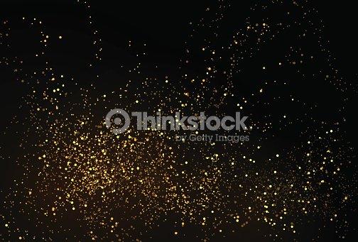 Gold glitter powder splash vector background : ベクトルアート