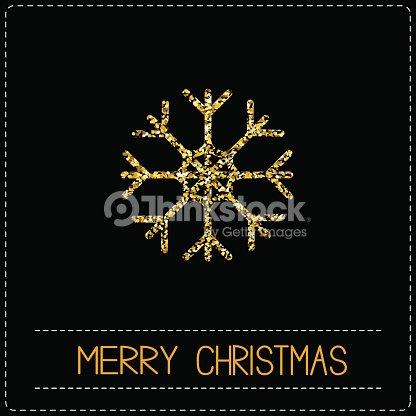 Buon Natale Glitter.Fiocchi Di Neve Glitter Oro Buon Natale Carta Di Credito Dash Linea