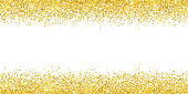 Gold glitter wide border backround. Vector illustration