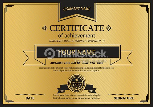 gold medal gold ribbon certificate diploma template vector illustration vector art