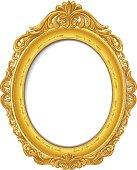 blank vintage  gold picture frame