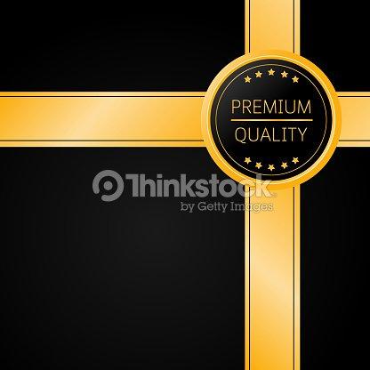 Gold premium quality badge vip premium invitation card poster flyer gold premium quality badge vip premium invitation card poster flyer background with gold ribbon stopboris Gallery