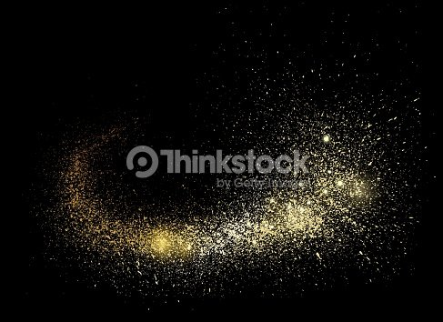 Gold space comet tail. : stock vector