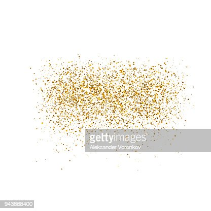 Gold sparkles on white background.  Luxury golden shiny abstract texture. Vector illustration, EPS 10. : stock vector