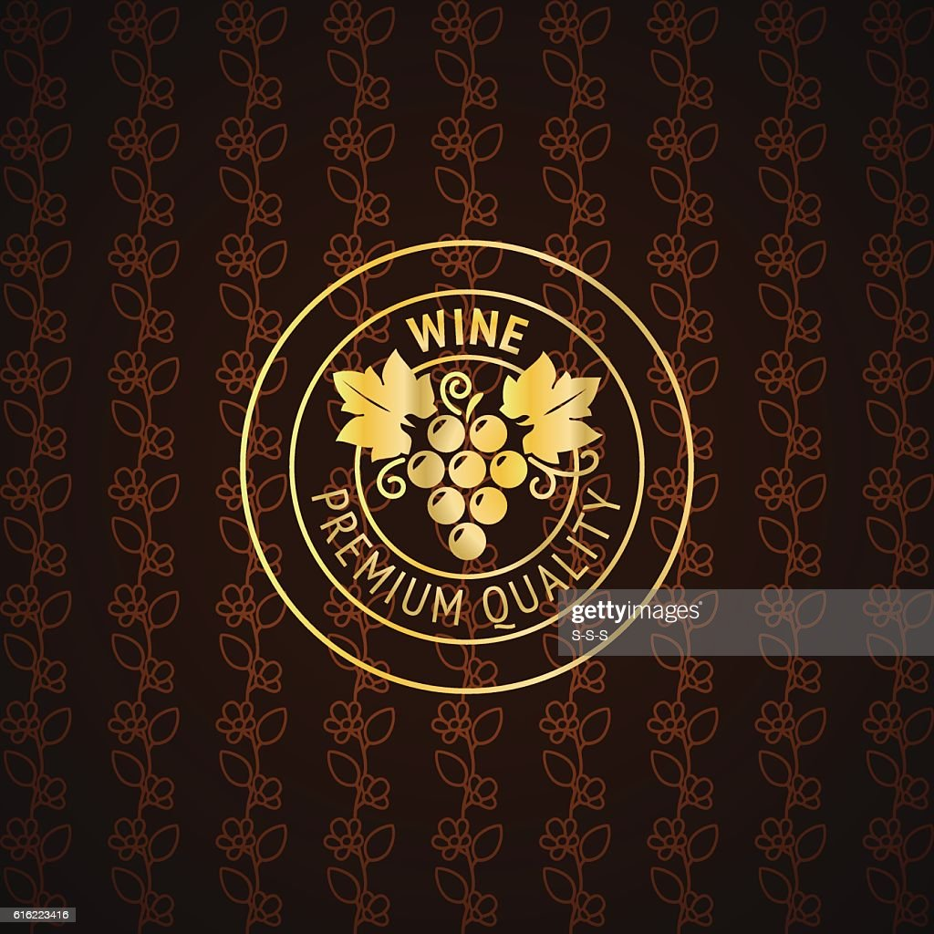 Gold wine label design : ベクトルアート