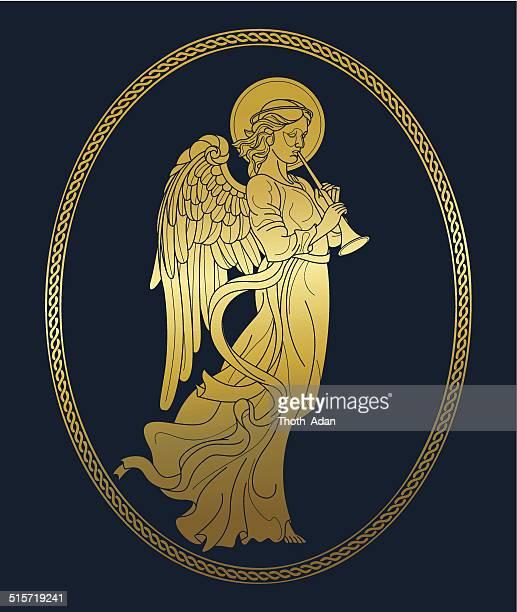 Goldenen Engel mit Flatterärmeln
