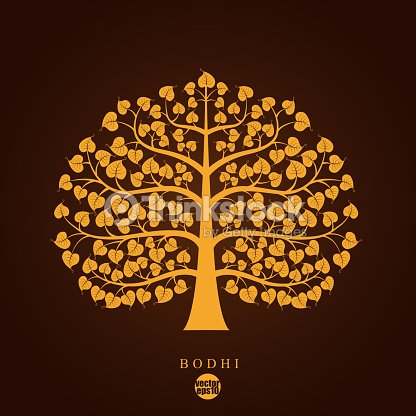 Golden Bodhi Tree Symbol Vector Illustration Vector Art Thinkstock