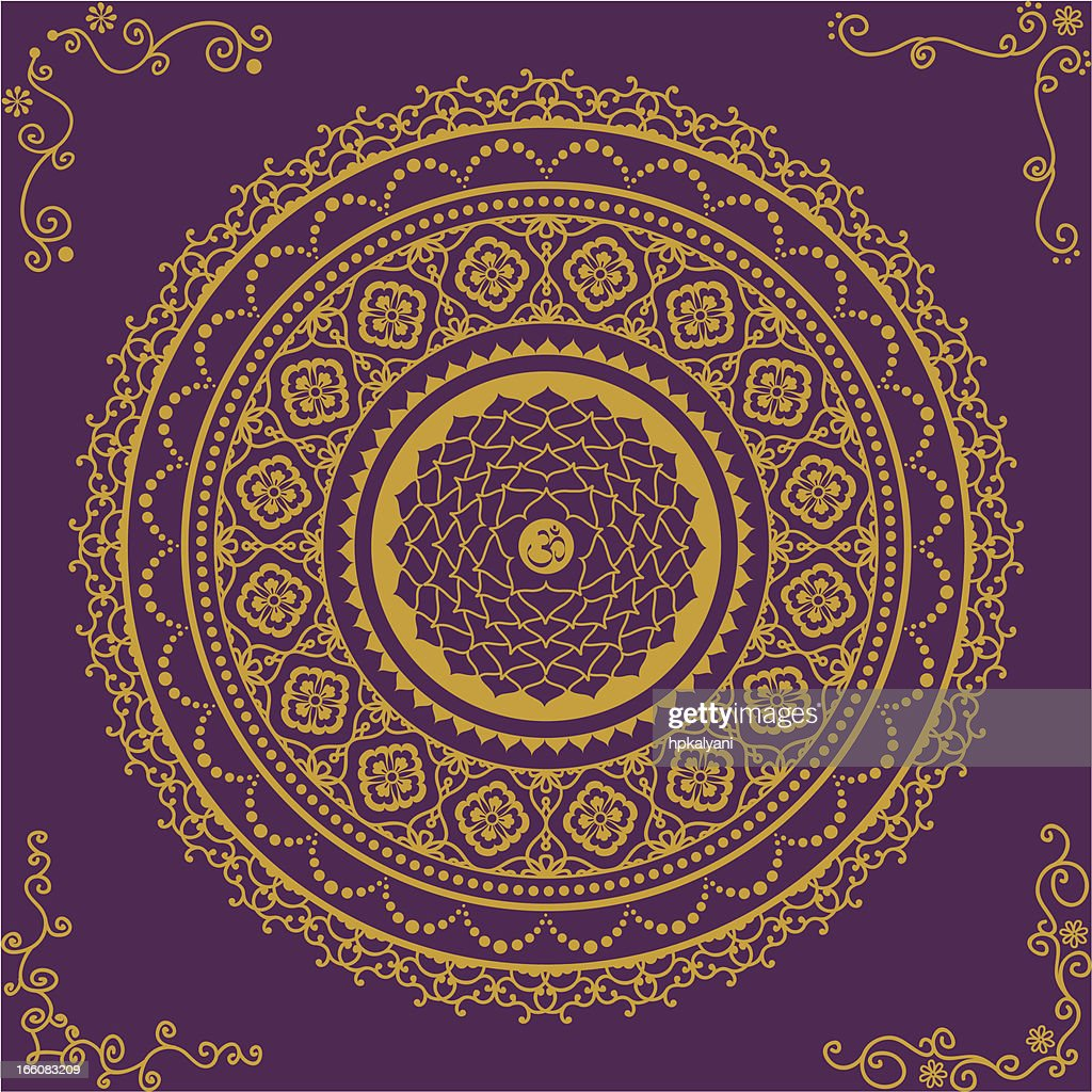 Golden Chakra Seven : Vector Art