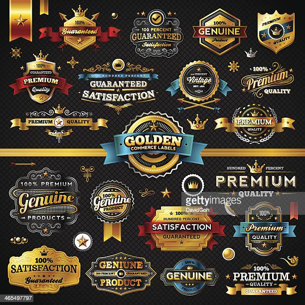 Golden Commerce etiquetas-Megaset (en la oscuridad)
