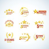 5 stars emblem templates