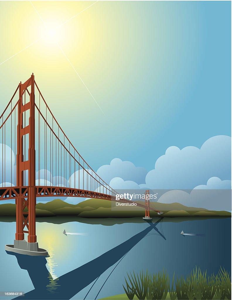 Golden Gate Bridge : Vector Art