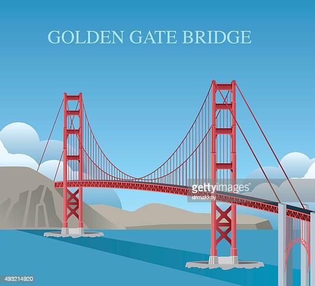 Golden Gate Bridge Stock Illustrations And Cartoons