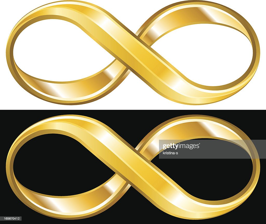 Golden Infinity Symbol Vector Art | Getty Images
