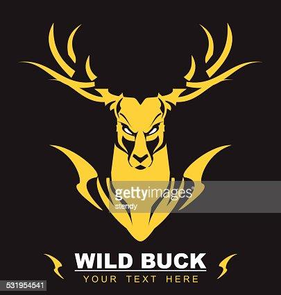 Golden King Deer Vector Art Thinkstock