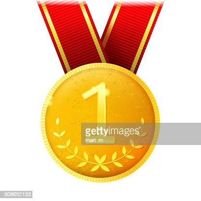 golden medal : Vector Art