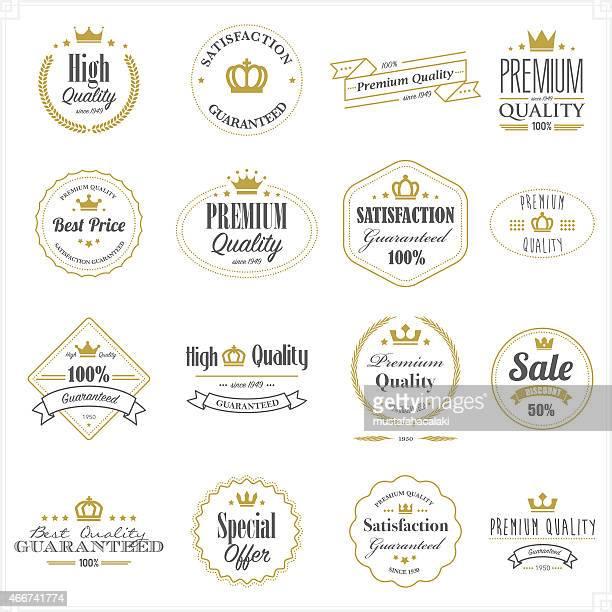 Sellos de calidad premium oro