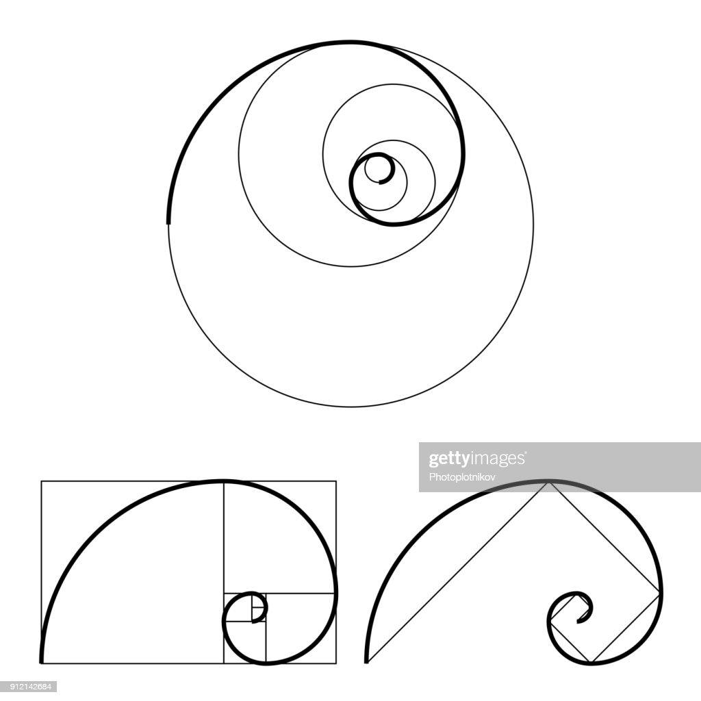 golden ratio template set proportion symbol graphic design element rh thinkstockphotos in golden ratio vector for photoshop golden ratio vector template