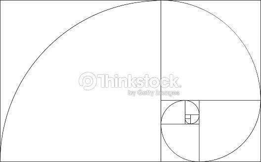 golden ratio template vector golden section frame vector art