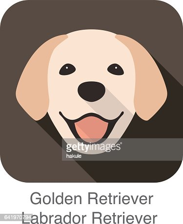 Grooming Golden Retriever Clip Art Clipart Vector Design
