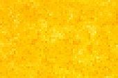 Golden seamless pixel background. Vector illustration for Your design.