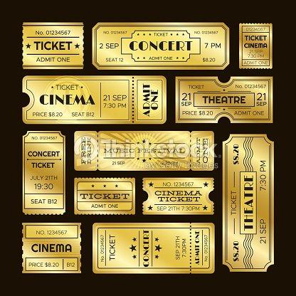 ゴールデン チケット1 つのゴールド劇場チケット セットを認めますvip