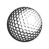 Golf Ball vector flat icon