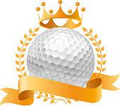 Golden golf banner