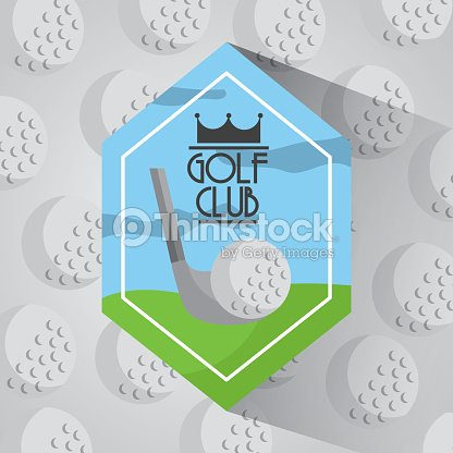 Golf club sport balls background