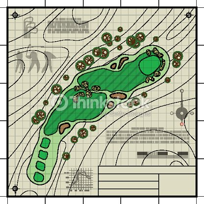 Golf course layout blueprint drawing vector art thinkstock golf course layout blueprint drawing vector art malvernweather