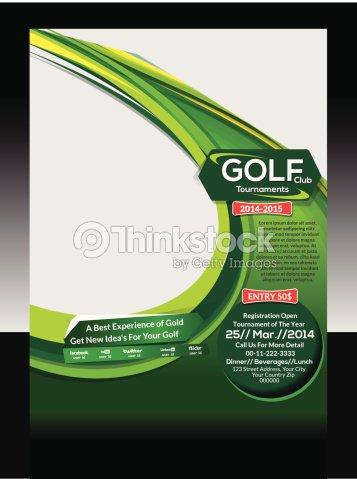 golf flyer template vector art