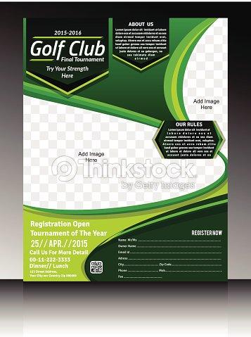 Golf Flyer Template Vector Art Thinkstock