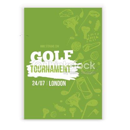 golf flyer vector illustration tournament design invitation with
