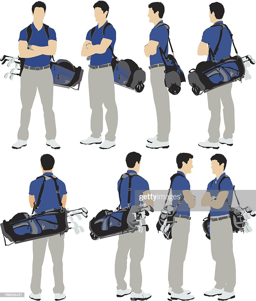 Golf player with arms crossed : Vector Art