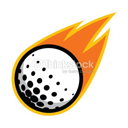 Golf sport ball comet fire tail flying icon