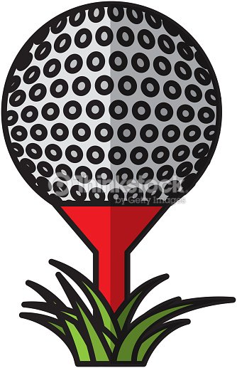 Golf sport ball icon