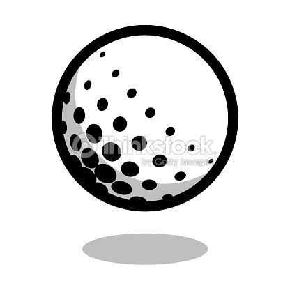 Golf sport ball logo vector line 3d icon