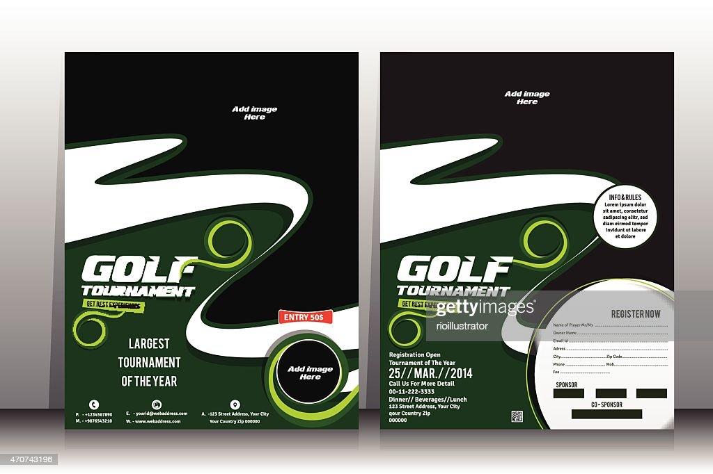 Golf Tournament Flyer U0026 Brochure Template : Vector Art