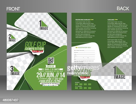 Golf Tournament Flyer Template Vector Art  Thinkstock