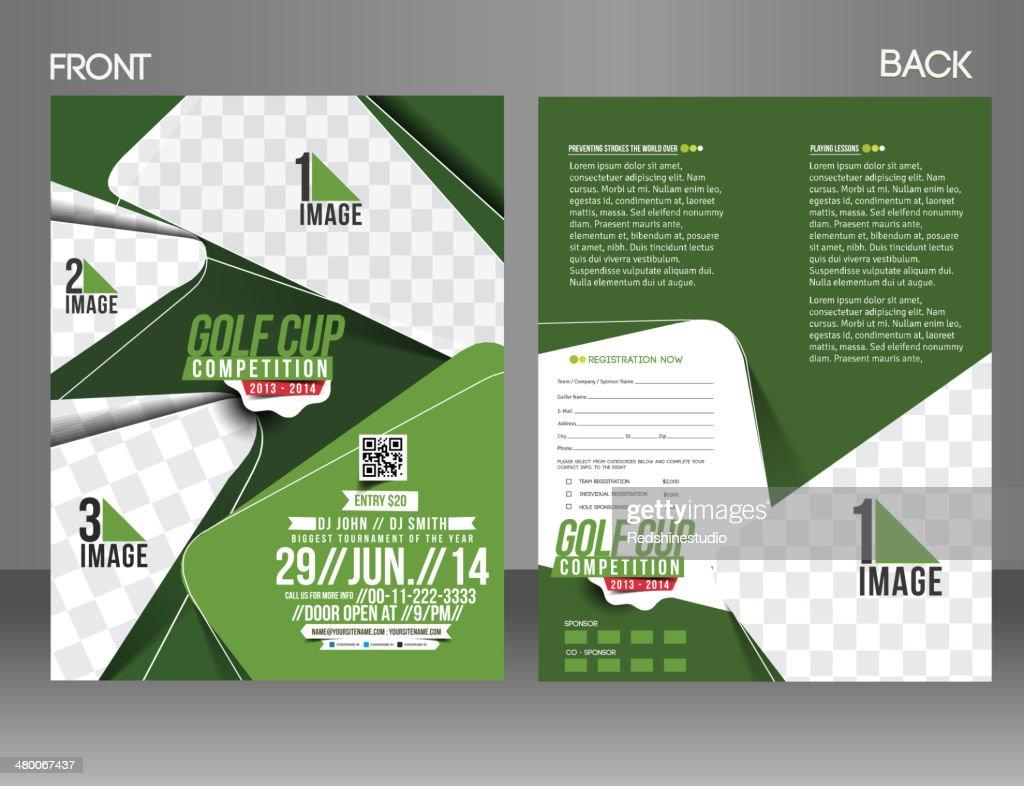 Golf Tournament Flyer Template : Vector Art