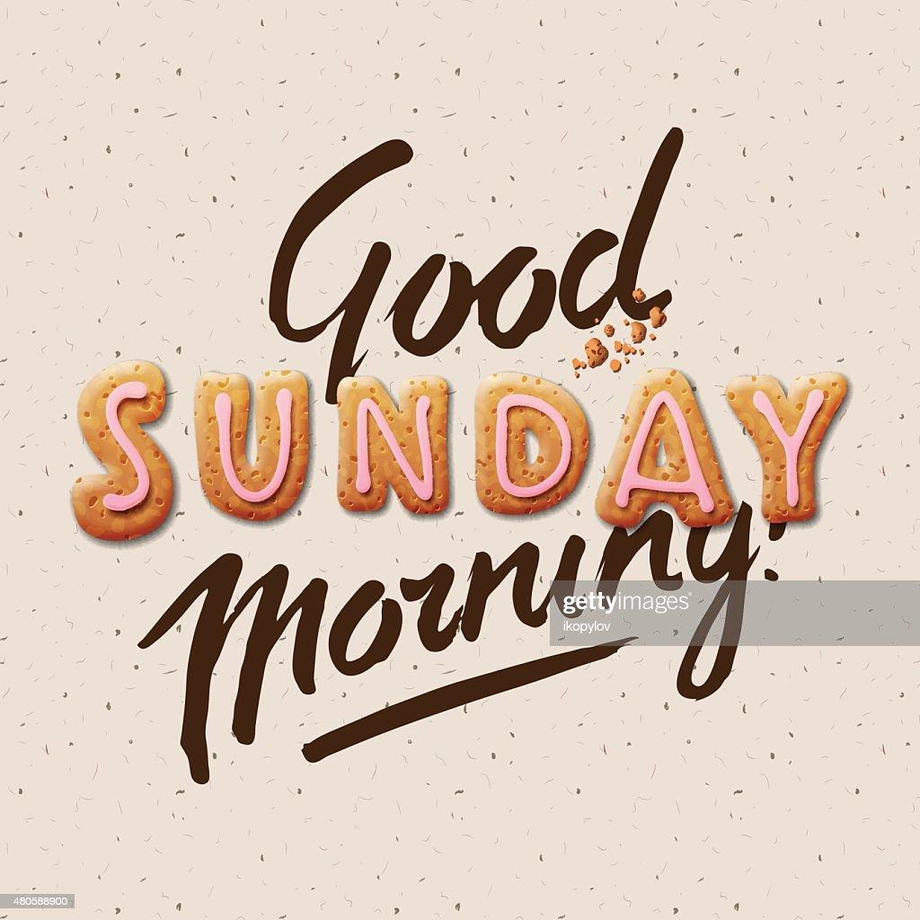 Good morning, Sunday : Vector Art