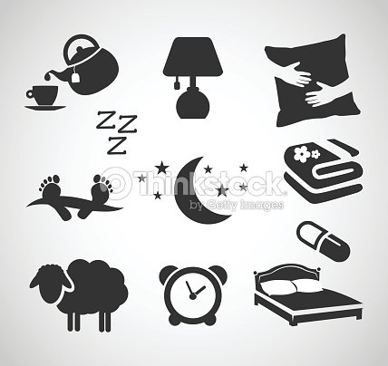 Good Night Sleep Icon Set Vector Illustration Vector Art Thinkstock