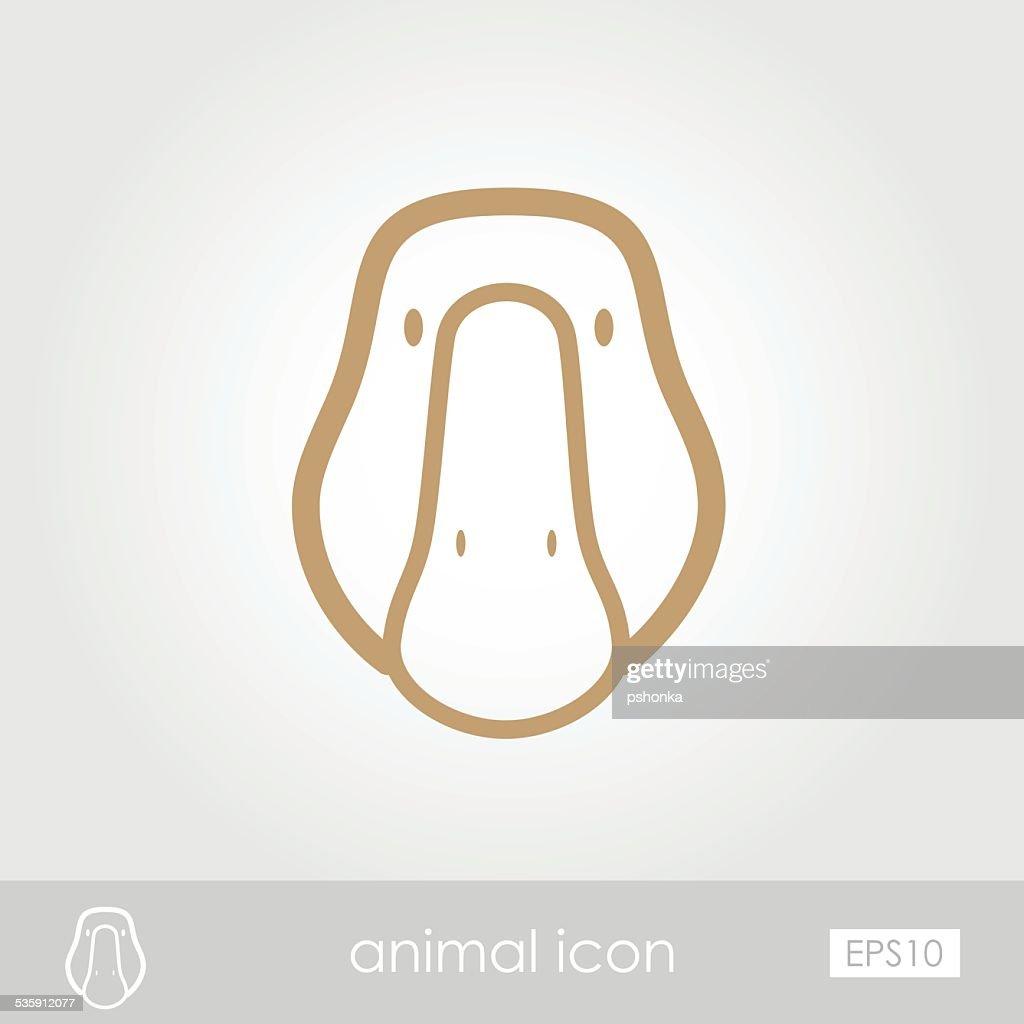 Icono de ganso : Arte vectorial