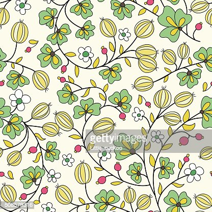 gooseberry seamless texture. vector pattern : Vektorgrafik