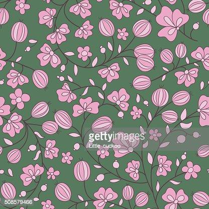 gooseberry seamless texture. vector pattern : Vector Art