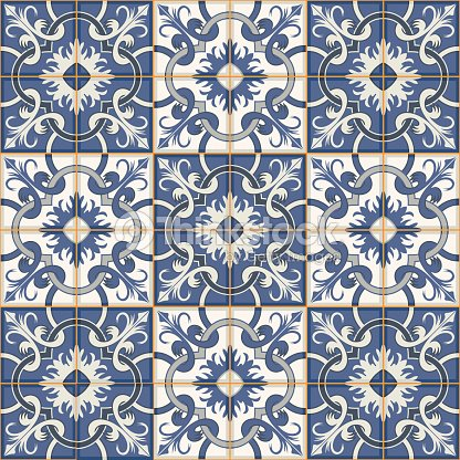 Gorgeous Seamless Patchwork Pattern Moroccan Tiles